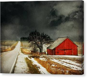 Road To Nowhere Canvas Print by Julie Hamilton