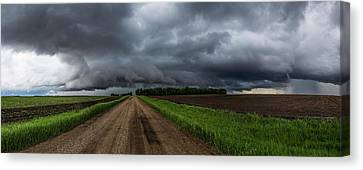Road To Nowhere - Tornado Canvas Print by Aaron J Groen
