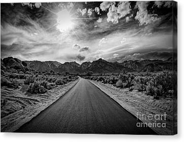 Road To Oblivion Canvas Print by Jennifer Magallon