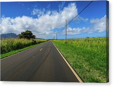 Road To Somewhere Canvas Print by Jera Sky