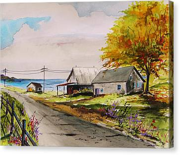 Road To The Bay Canvas Print by John Williams