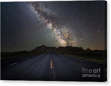 Looking To The Heavens Canvas Print - Road To The Heavens by Michael Ver Sprill