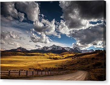 Road To The Rockies Canvas Print by Andrew Soundarajan