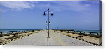 Canvas Print featuring the photograph Road To The Sea by Paula Porterfield-Izzo
