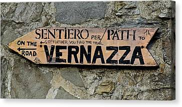 Old Country Roads Canvas Print - Road To Vernazza by Frozen in Time Fine Art Photography