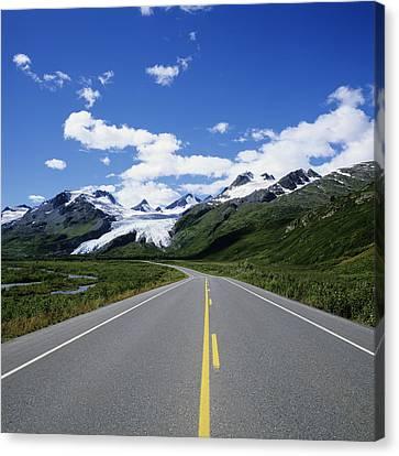 Road To Worthington Glacier Canvas Print by Bill Bachmann - Printscapes