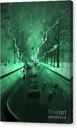 Destruction Canvas Print - Road Trip Effects  by Cathy  Beharriell