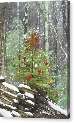 Roadside Christmas Cheer Canvas Print by Benanne Stiens