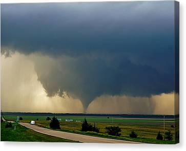 Canvas Print featuring the photograph Roadside Twister by Ed Sweeney