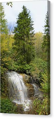 Roadside Waterfall In North Carolina Canvas Print