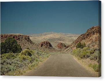 Canvas Print featuring the photograph Roadway To Peace by Lori Mellen-Pagliaro