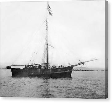 Roald Amundsen Arrives In Nome Canvas Print by F.H. Nowell