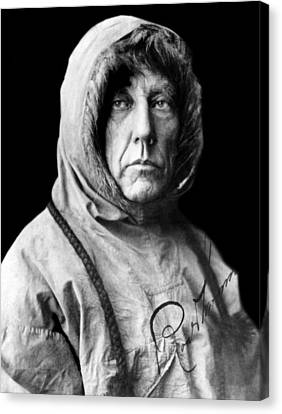 Roald Amundsen, The First Person Canvas Print by Everett
