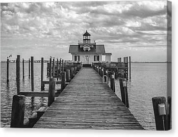Roanoke Marshes Light Canvas Print by David Sutton