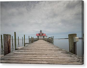 Outer Banks North Carolina Roanoke Marshes Lighthouse Canvas Print