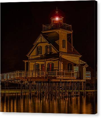 Roanoke River Light Canvas Print by Capt Gerry Hare