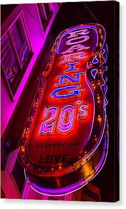 Roaring 20's Neon Canvas Print by Garry Gay
