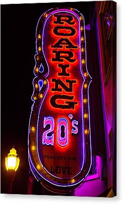 Roaring 20's Neon Sign Canvas Print