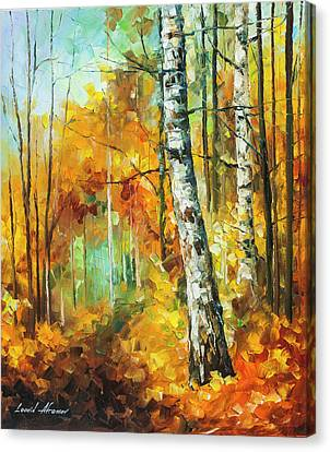 Roaring Birch  Canvas Print by Leonid Afremov