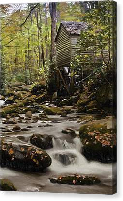 Roaring Fork Grist Mill Canvas Print by Jonas Wingfield