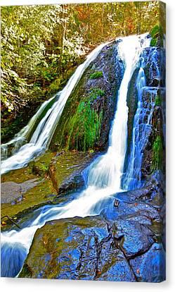 Roaring Run Falls State Park Virginia Canvas Print by The American Shutterbug Society