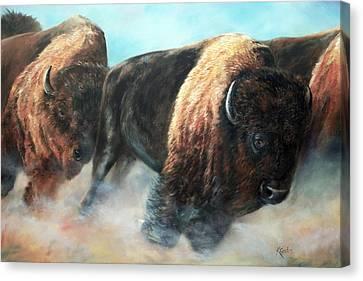 Roaring Thunder Canvas Print