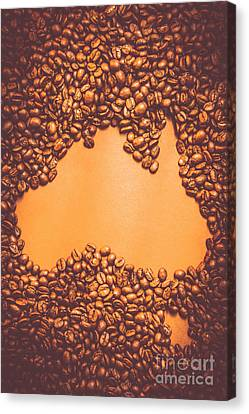 Roasted Australian Coffee Beans Background Canvas Print
