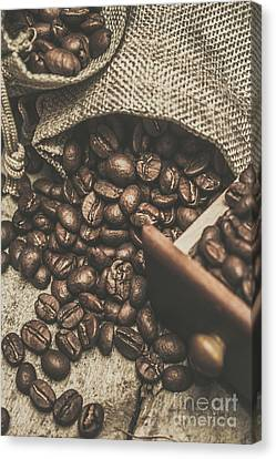 Roasted Coffee Beans In Close-up  Canvas Print by Jorgo Photography - Wall Art Gallery
