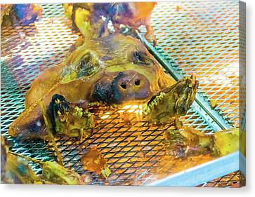 Roasted Grill Pig 2 Canvas Print