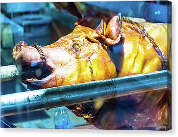 Roasted Grill Pig 3 Canvas Print