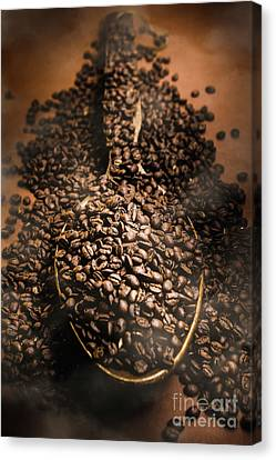 Roasting Coffee Bean Brew Canvas Print
