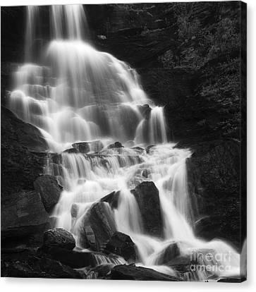 Roasto Waterfall In Nordland, Norway Canvas Print by Arild Heitmann