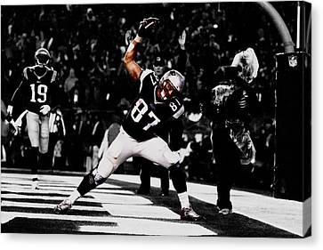 Tebow Canvas Print - Rob Gronkowski by Brian Reaves