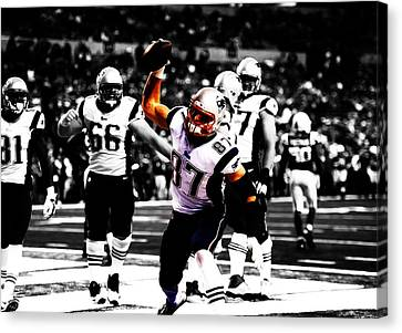 Tebow Canvas Print - Rob Gronkowski Touchdown by Brian Reaves