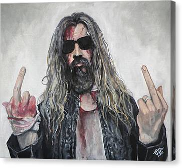 Rob Zombie Canvas Print by Tom Carlton