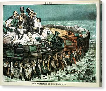 Robber Barons Crushing Workers Canvas Print