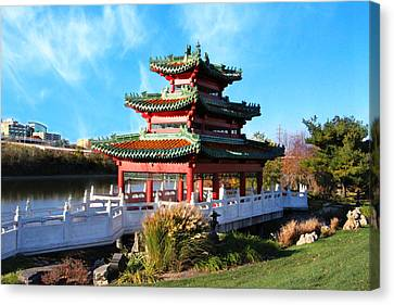 Robert D. Ray Asian Garden Canvas Print by Kathy M Krause