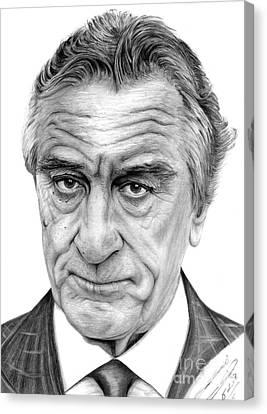 Robert De Niro Canvas Print by Balazs Sebok