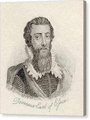 Robert Devereux, 2nd Earl Of Essex Canvas Print
