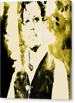 Robert Downey Canvas Print by Brian Reaves