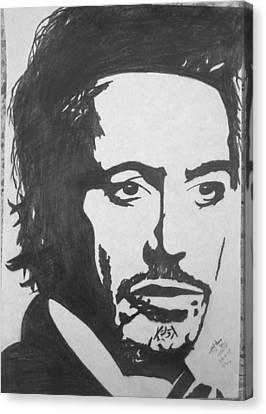 Robert Downey Jr Canvas Print by Zaryab Hassan