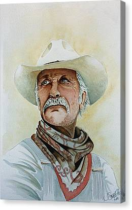 Robert Duvall As Augustus Mccrae In Lonesome Dove Canvas Print
