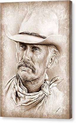 Robert Duvall  The Western Collection Canvas Print
