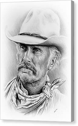 Robert Duvall Ver Two Signed Canvas Print by Andrew Read