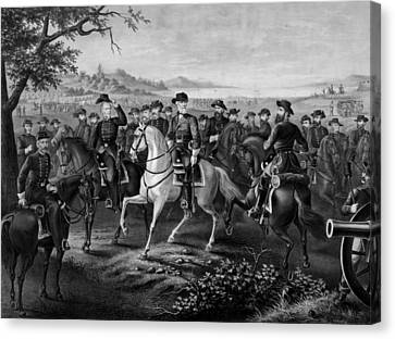 Robert E. Lee And His Generals Canvas Print by War Is Hell Store