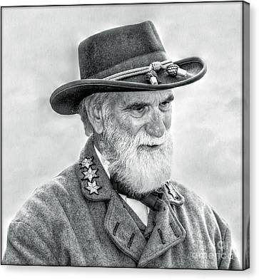 Robert E Lee Confederate General Portrait Canvas Print by Randy Steele