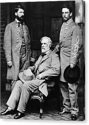 Robert E Lee Canvas Print by Matthew Brady