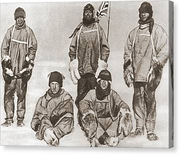 Terra Canvas Print - Robert Falcon Scott S Party At The by Vintage Design Pics