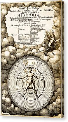 Robert Fludds Book On Metaphysics, 1617 Canvas Print by Science Source