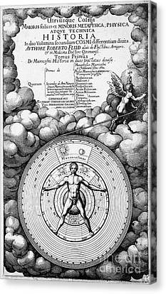 Robert Fludds Book On Metaphysics, 1617 Canvas Print by Wellcome Images